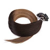 neitsi 20 '' 50g / erä 1 g / s ombre YLEELLISET u torjuen fuusio ihmisen hiusten pidennykset 100% remy t2-8 #