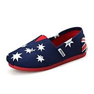 לבנות-נעליים ללא שרוכים-קנבס-נוחות-כחול ורוד אדום אפור כתום-שטח יומיומי ספורט-עקב שטוח עקב וודג'