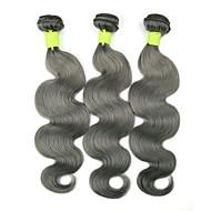 """3pcs / lot 10 """"-26"""" remy faisceaux de cheveux humains cheveux gris vert vierge d'ondes de corps de cheveux brésiliens"""