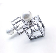 Non Stone Stud Earrings Jewelry Women Daily Casual Sterling Silver 1 pair Silver