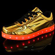 Unissex-Tênis-Conforto Inovador-Rasteiro-Prateado Dourado-Gliter Couro Ecológico-Ar-Livre Casual Para Esporte