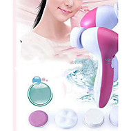 5 In 1 Set Brand New Deep Clean  Electric Facial Cleaner Face Skin Care Brush Massager Best Price