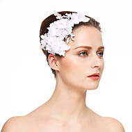 Women's Rhinestone Crystal Imitation Pearl Chiffon Headpiece-Wedding Special Occasion Hair Combs Flowers 1 Piece