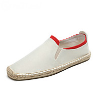 Men's Loafers & Slip-Ons Spring Summer Fall Espadrilles Canvas Outdoor Office & Career Casual Flat Heel Gore Blue White Gray