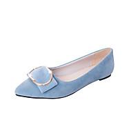 Dame Flate sko Komfort Semsket lær Vår Avslappet Gange Komfort Uthult Flat hæl Svart Grå Blå Rosa 2,5 - 4,5 cm
