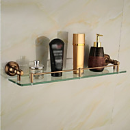 Bathroom Shelves,Gold Wall Mounted Glass Shelf,Bathroom Accessory