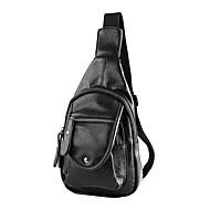 남성 슬링 어깨 가방 PU 블랙