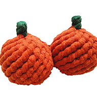 Katteleke Hundeleke Leker til kjæledyr Bide Leker Tannrenseleke Frukt Bomull Oransje