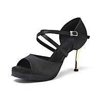 Na míru-Dámské-Taneční boty-Latina Swing Taneční bory-Látka-Vysoký úzký-Černá