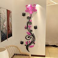 Botanický motiv Samolepky na zeď 3D samolepky na zeď Ozdobné samolepky na zeď,Vinyl Materiál Home dekorace Lepicí obraz na stěnu