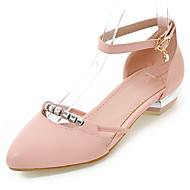 Women's Flats Spring Summer Fall Gladiator Comfort Ballerina Leatherette Outdoor Dress Casual Flat Heel Sparkling Glitter BuckleBlue Pink