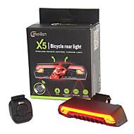 פנסי אופניים LED Laser LED רכיבת אופניים שלט רחוק עמיד למים קל במיוחד כפתור סוללת ליתיום 80 Lumens סוללה רכיבה על אופניים חוץ