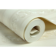 Blumen Streifen Tapete Für Privatanwender Klassisch Wandverkleidung , Vliesstoff aus Papier Stoff Klebstoff erforderlich Tapete ,