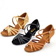 Személyre szabható-Személyre szabott sarok-Szatén-Latin Dzsessz Salsa Swing-cipők-Női
