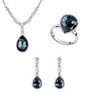Šperky Set Křišťál Slitina Bílá Modrá Světle modrá Párty 1Nastavte 1 x náhrdelník 1 x pár náušnic Prstýnky Svatební dary
