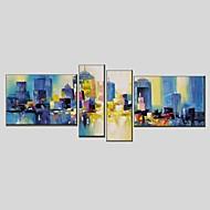 Handgeschilderde Abstract Schilderijen + Prints,Modern Klassiek Vier panelen Canvas Hang-geschilderd olieverfschilderij For Huisdecoratie
