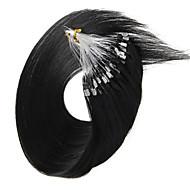 микро наращивание волос петля 100s / пакет 40g-50g Бразильские волосы девственницы 100% человеческих волос Remy прямые кольца микро петли