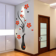 Botanisch Wand-Sticker 3D Wand Sticker Dekorative Wand Sticker,Vinyl Stoff Haus Dekoration Wandtattoo