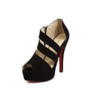 Žene Sandale Proljeće Ljeto Udobne cipele PU Formalne prilike Ležeran Stiletto potpetica Drugo Crna