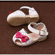 Girls' Baby Sandals Comfort Leather Athletic Casual Outdoor Running Comfort White Flat