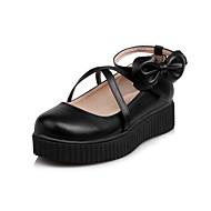 Dame-PU-Flat hælFlate sko-Kontor og arbeid Formell Fritid-Hvit Svart Rosa