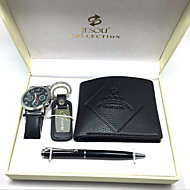 Set of 4 Groom groomsman Gift Box with Watch Keychain Wallet Pen for Business Party Gift