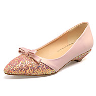 Women's Flats Spring Summer Fall Other PU Office & Career Party & Evening Dress Low Heel Others Green Pink Almond Other