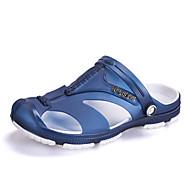Γυναικεία παπούτσια-Σανδάλια-Ύπαιθρος Καθημερινό-Επίπεδο Τακούνι-Ανατομικό Svítící podrážky-PU-Μαύρο Μπλε Γκρι