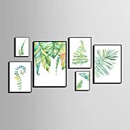 Abstrait A fleurs/Botanique Animal Toile Encadrée Set de Cadres Art mural,PVC Matériel Noir Sans Passepartout Avec Cadre For Décoration