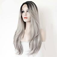 два тона волос 1b # Ombre седые волосы человеческие волосы фронта шнурка жаропрочных серый человеческого парика волосы для