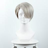 ouo μαλλιά περούκα πάγου στην Yuri / Yuri !!! για Βίκτορ πάγο Nicky fu Luofu αναμιγνύεται κυανό / γιαγιά γκρίζα περούκα μετάξι υψηλής