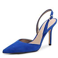 Damen-Cloggs & Pantoletten-Büro Kleid Lässig Party & Festivität-Vlies-Stöckelabsatz-Andere-Schwarz Blau
