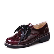 Alacsony-Női-Félcipők-Irodai Ruha-Bőrutánzat-Fekete Rózsaszín Burgundi vörös