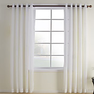 Two Panels Curtain Modern , Plaid/Check Bedroom Polyester Material Sheer Curtains Shades Home Decoration For Window