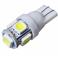 10db 1W 5smd t10 5050 autó vezetett automatikus lámpa xenon izzók 12V