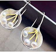 Non Stone Drop Earrings Jewelry Women Daily Casual Pearl 1 pair Silver