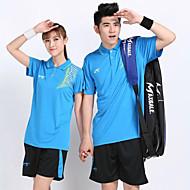 Ademend Comfortabel-Unisex-Badminton-Pakken/Kledingsets(Geel Wit Blauw Oranje)