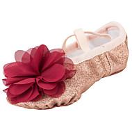 Na míru-Dětské-Taneční boty-Balet-Látka-Rovná podrážka-Zlatá