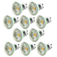 5W GU10 LED-spotlys MR16 1 COB 500 lm Varm hvid Kold hvid Justérbar lysstyrke Vekselstrøm 220-240 V 10 stk.