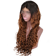 Ombre Color 1B/33 Brazilian Human Hair Natural Wave Glueless Full Lace Wig