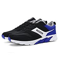 Mens Sports shoes with velvet blue / Black / red
