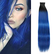 20ks / lot 14inch pásku ve 100% lidské prodlužování vlasů kožní pu útku 40g zvýrazněny rovné vlasy