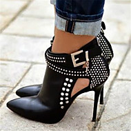 Women's Heels Spring Summer Fall Other PU Party & Evening Dress Casual Stiletto Heel Rhinestone Black