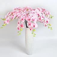 1 Větev Polyester Orchidej Květina na stůl Umělé květiny 10