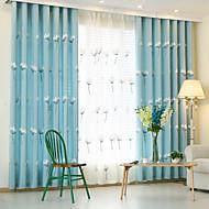Két panel Ablak kezelése Európai , Rajzfilm Hálószoba Poli / pamut keverék Anyag függöny Drapes lakberendezési For Ablak