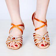 Sapatos de Dança(Azul Vermelho Amêndoa) -Feminino-Personalizável-Latina
