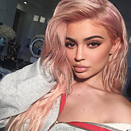 Celebrity Wig Rose Gold Color Lace Front Wigs Synthetic Long Natural Wave Heat Resistant Fiber Kylie Jenner's Hair Popular