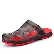 샌들-캐쥬얼-남성-구멍 신발-PU블루 레드 다크 브라운