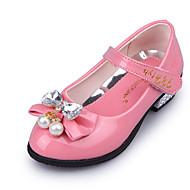 Sandály-Lakovaná kůže-Flower Girl BotyRůžová Červená-Svatba Běžné Party-Nízký podpatek