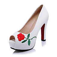 Women's Sandals Spring Summer Fall Other Club Shoes Novelty Customized Materials Leatherette Wedding Dress Casual Chunky Heel Lace-up